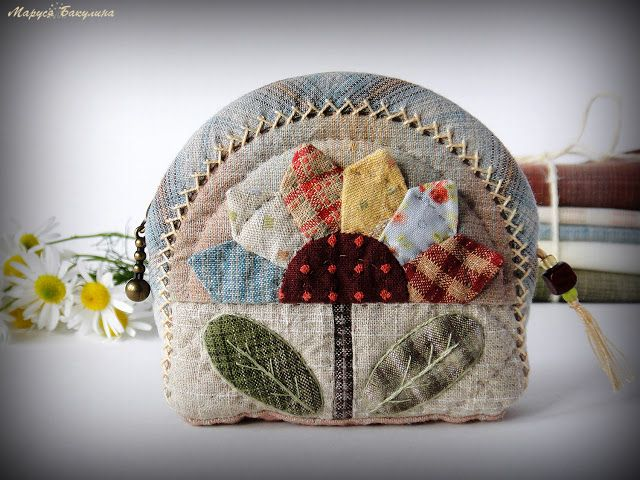 косметичка, кошелечек, монетница, японский пэчворк, пэчворк, стежка, ручная стежка, весна, цветочек, цветок, светик семицветик, французские узелки, шов козлик, рукоделие, творчество, ручная работа, аппликация, japanese patchwork, квилтинг, йоко сайто, акеми сибата, yoko saito, akemi shibata, японские ткани