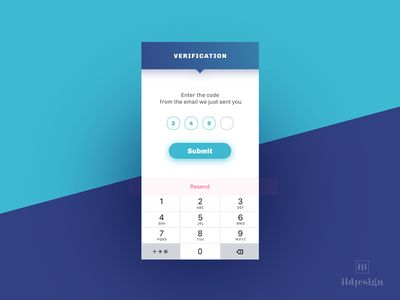 Verification Code Ui Design