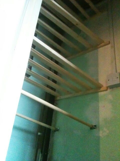 Airing cupboard ideas - hanging space for unironed shirts
