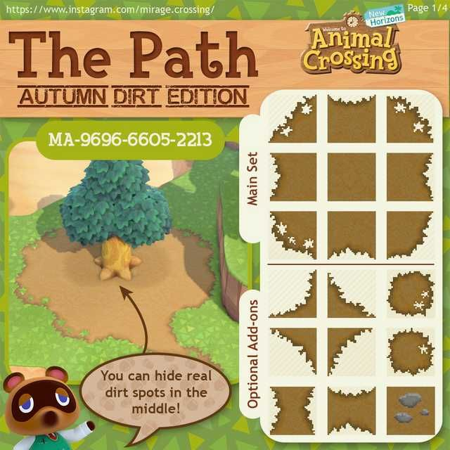 The Path Has Now Been Recolored To Match Regular Dirt In Autumn Animal Crossing Animal Crossing 3ds Animal Crossing Funny