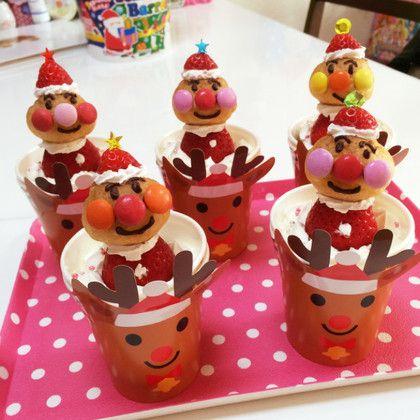 クリスマス☆アンパンマンのいちごサンタ☆のつくれぽ 【クックパッド】 簡単おいしいみんなのレシピが280万品