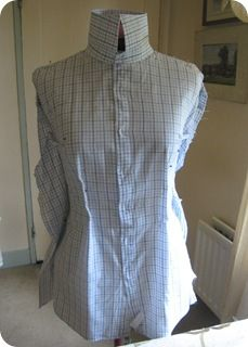 How to upcycle a man's shirt into a shirt for a woman