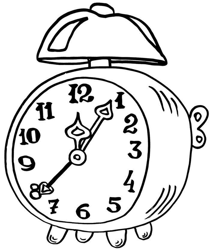 Free Clock Coloring Pages Printable Free Coloring Sheets Clock Alarm Clock Coloring Pages