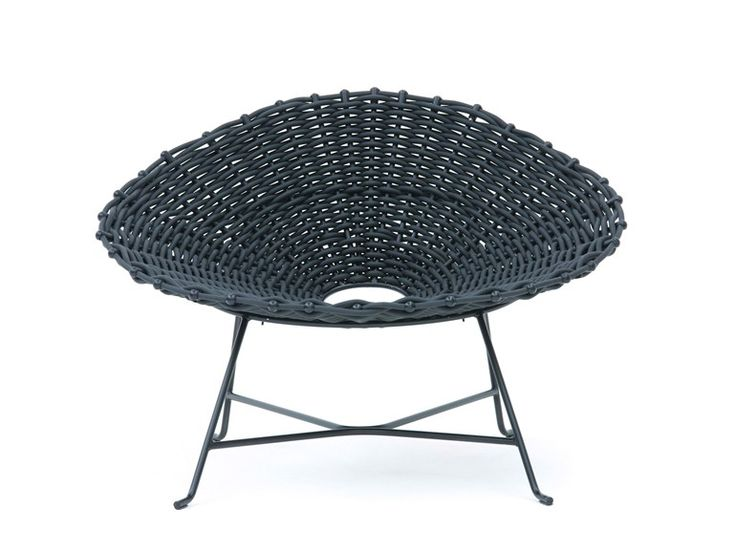 Steel and PVC garden armchair SWEET 27 Sweet Collection by Gervasoni | design Paola Navone