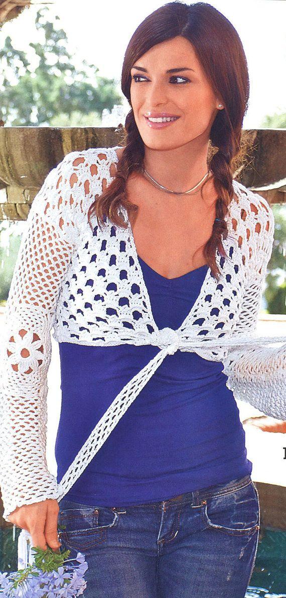 Pattern only - a crochet spring/summer/fall cardigan/bolero