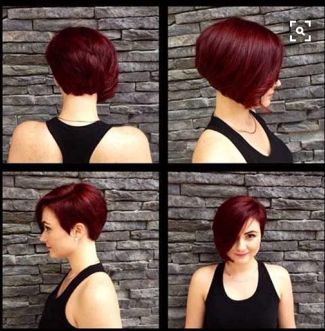 cute short asymmetrical cut