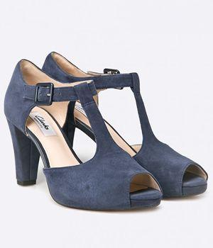 Sandale Dama Toc Conic Si Platforma Clarks