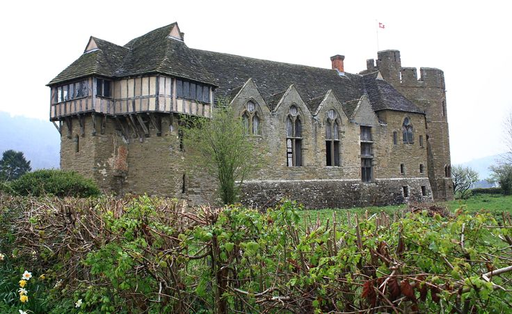 Stokesay Castle, view of main hall.  Shropshire, England.