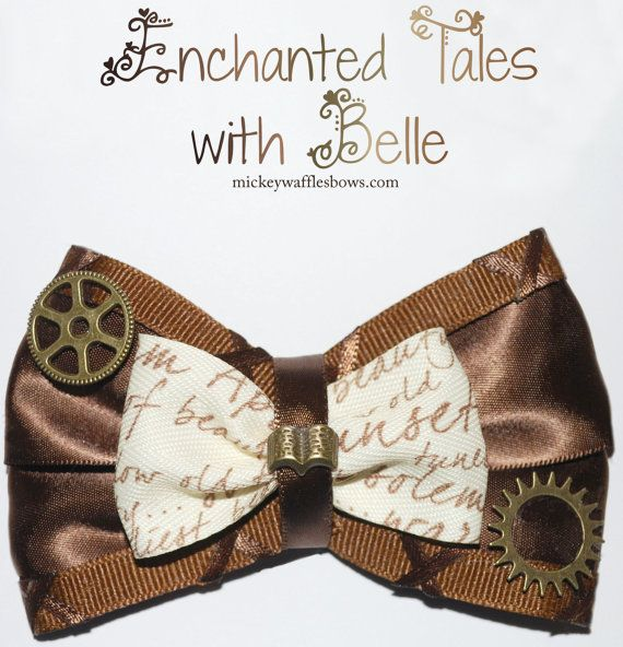 NEW RELEASE SPECIAL - Enchanted Tales with Belle Hair Bow on Etsy, $11.00