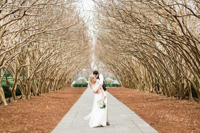 Anna and Awad�s $3,000 DIY Dallas Arboretum Wedding