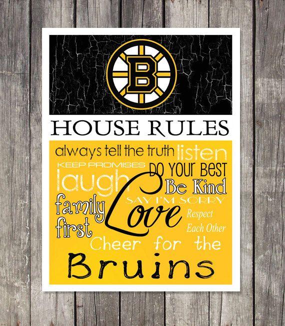 BOSTON BRUINS House Rules Art Print.