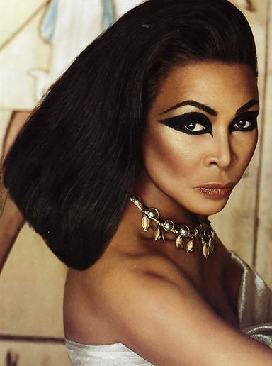 Tina Turner as Cleopatra. Make up by the late Kevin Aucoin.