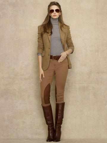 Ralph Lauren Atlantic Leather-Patch Jodphur.  So I could get away with wearing riding pants as clothes...? cool
