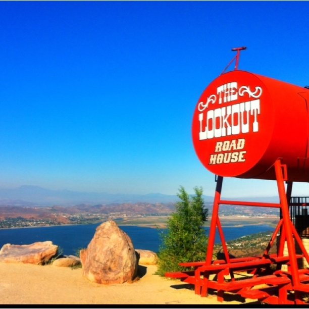 """Discovered By Jason Z, """"Great view of Lake Elsinore and the Temecula valley,"""" at The Lookout, Lake Elsinore, CA"""
