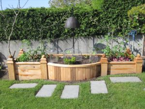 raised garden bed love this height to work witheasier for those with balance