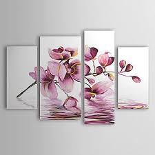 Resultado de imagen para pinturas con flores azules gran des