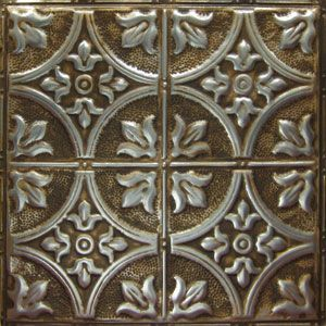 American tin ceiling tiles pattern 2 in silver brushed bronze love this not too shiny looks - Silver tin backsplash tiles ...