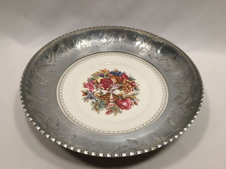 Vintage Wrought Farberware Triumph Limoges Imperial Victorian Bowl Easter #Farberware