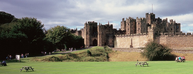 Alnwick Castle, England. My husband proposed to me here, on bended knee...long before it gained Harry Potter fame.