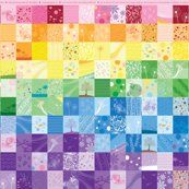 Rainbow patch for cheater quiltCrafts Ideas, Quilt Design, Cheaters Quilt, Rainbows Colors, Wall Decal, Crafts Activities, Quilt Fabrics, Rainbows Cheaters, Quilt Pattern