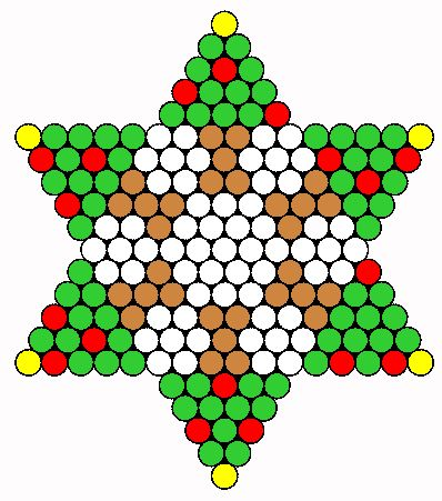 Christmas Trees Perler Bead Pattern