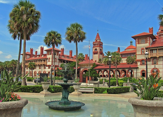 Can you imagine going to college here? Is this facility over-the-top? Of course. Is it stunning anyway? Absolutely. Originally built in 1888 by oil and railroad tycoon Henry Flagler as the Ponce De Leon Hotel, it's now a part of Flagler College in St. Augustine, Florida.