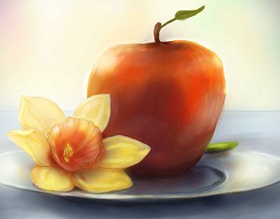 """Check out new work on my @Behance portfolio: """"apple and flower"""" http://be.net/gallery/35453781/apple-and-flower"""