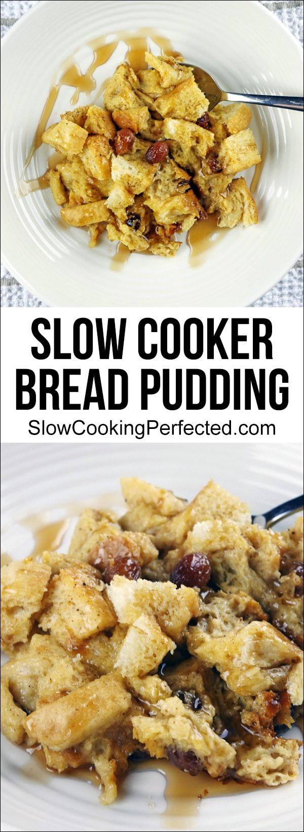 Incredibly Delicious Slow Cooker Bread Pudding