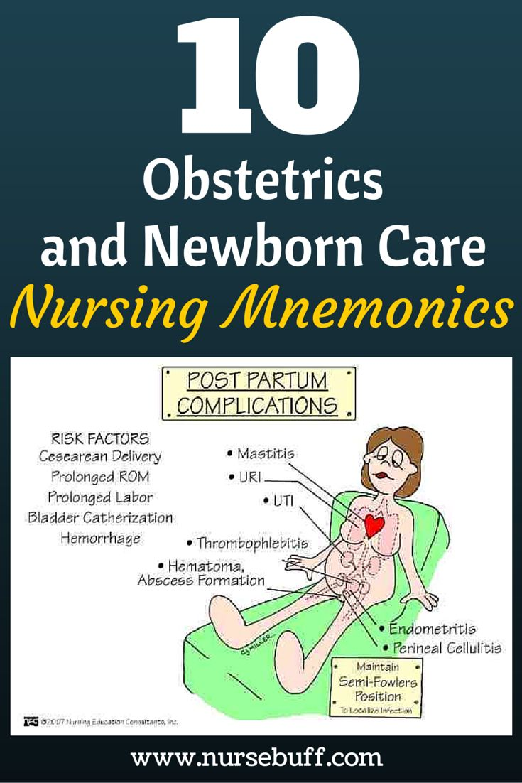 10 Obstetrics Nursing Mnemonics You Should Know Now: http://www.nursebuff.com/nursing-mnemonics-obstetrics-and-newborn-care/