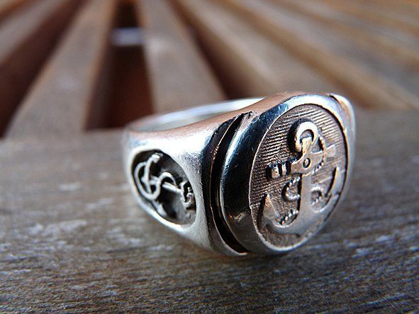 Bundeswehr Marine Anchor Ring: Fashion Men, Men Nautical Style, Apparel Style, Men Fashion, Anchors Rings, Wedding Rings, Marine Anchors, Bundeswehr Marine, Nautical Rings