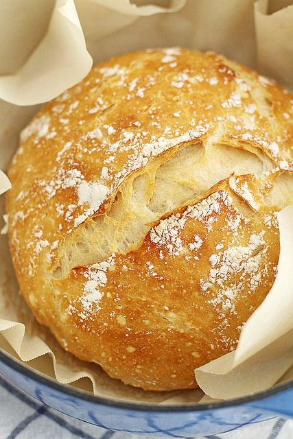 no knead dutch oven bread- mix up before work and pop it in the oven when I get home!