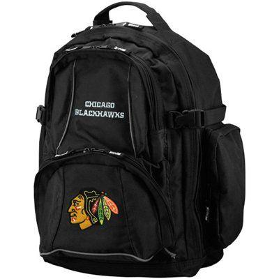 Chicago Blackhawks Black Trooper Backpack