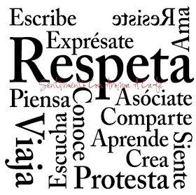 Expresate, Respeta, Crea, Protesta, Comparte, Aprende