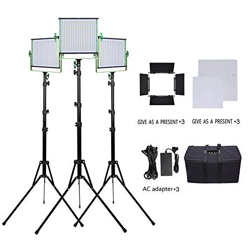3 LED Video Light and Stand Lighting kit GVM Dimmable Bicolor 520 Photography Lights Aluminum Alloy Heat Dissipation Shell with Suitcase AdapterSoft Diffusion Filter  Barn door * Check this useful article by going to the link at the image.