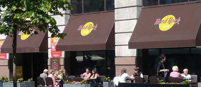 Kanopi kain Hard rock café