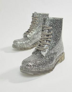 b97eef8314cc57 ASOS DESIGN Global glitter wellies