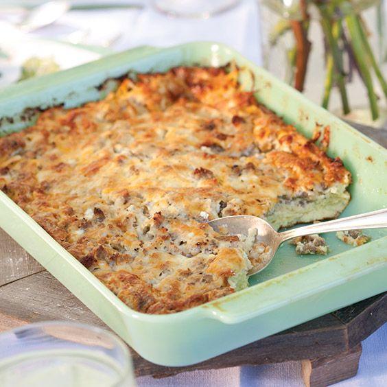 Cheesy Maple-Pork Breakfast Casserole - Paula Deen