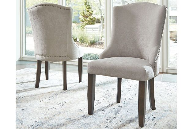 Definitely Worthy Of A Place At The Head Of The Table The Zimbroni Upholstered Dining Room A Blue Chairs Living Room Dining Room Arm Chairs Dinning Room Decor