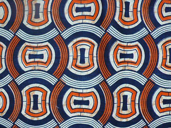 Tissu wax motif graphique original 100% coton