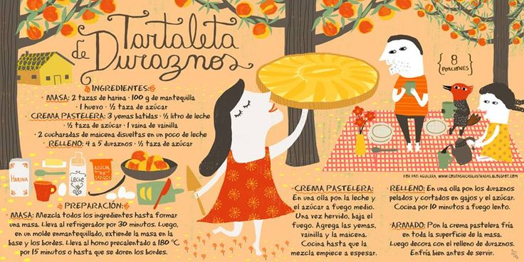Cositas Ricas Ilustradas por Pati Aguilera: Tartaleta de duraznos