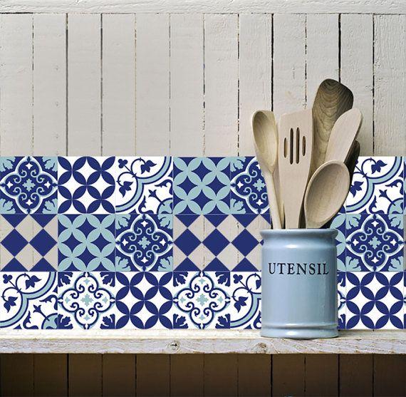 Mélange tuile Stickers cuisine/salle de bain carreaux vinyle dalles livraison gratuite - conception 309