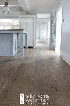 Custom Wide Plank Wood Floor Installation White Oak With