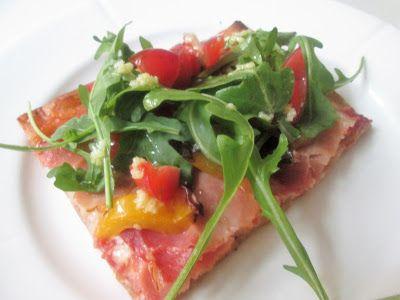 En verden af smag!: Pizza med Parmaskinke, Peberfrugt og Tomater
