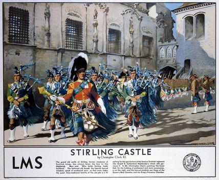 'Stirling Castle', LMS poster, 1923-1947.