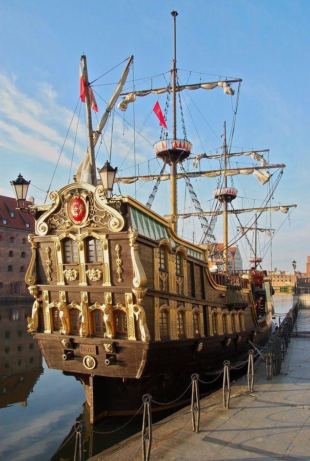 "Gdansk Map Google | Galeon Sailing Ship ""Lew"" - Gdansk - Poland"