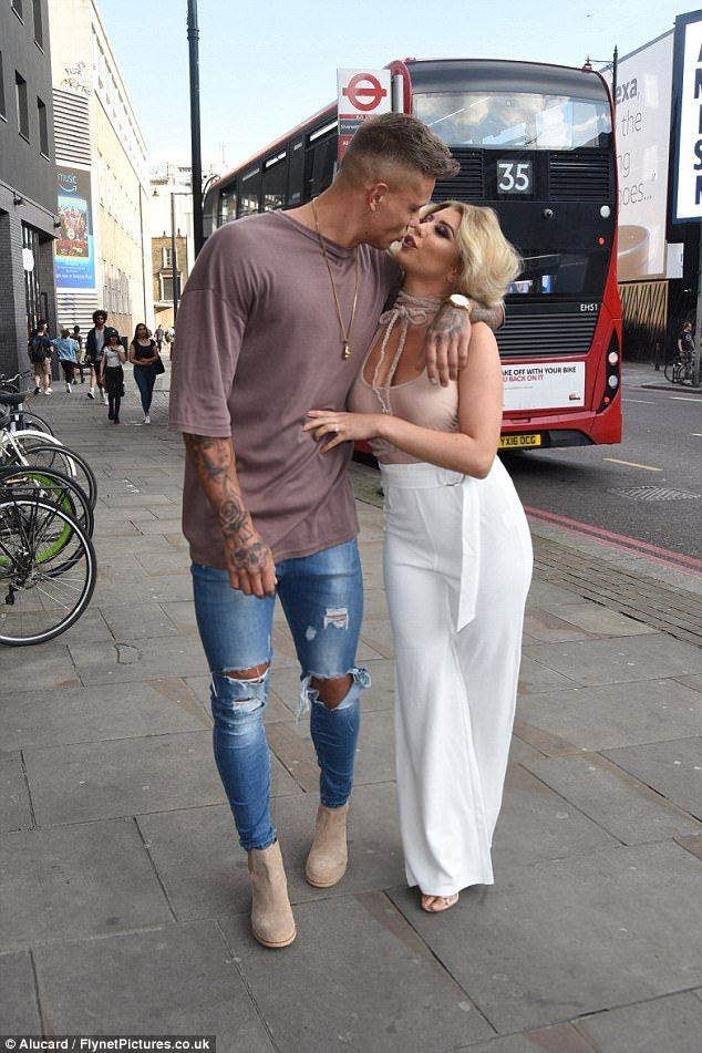 Loved-up: Love Island runners-up Olivia Buckland and Alex Bowen were also in attendance ...