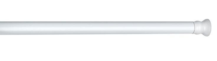 WENKO Teleskop Duschstange extra stark Weiß 110 - 185 cm  Description: Die weiße Teleskopduschstange von WENKO ist aus Aluminium gefertigt. Sie löst endlich ein altes Problem mit innovativer Technik. Ohne Bohren durch einfaches Klemmen zwischen zwei Wänden wird die praktische Stange schnell und flexibel angebracht und der passende Duschvorhang mühelos aufgezogen. Die stabile Stange ist variabel von 110 bis 185 cm Breite einstellbar und so für Duschen und Badewannen geeignet. Der…
