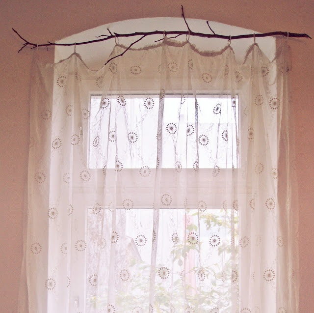 1000 ideas about branch curtain rods on pinterest - Mecanismos para cortinas ...