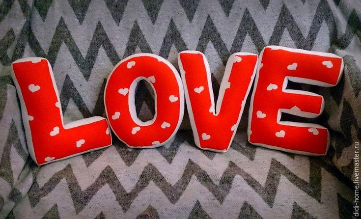 Шьем мягкие буквы-подушки Love: подсказки для начинающих - Ярмарка Мастеров - ручная работа, handmade