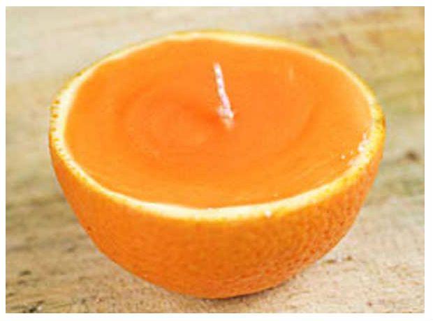 vela de casca de laranja